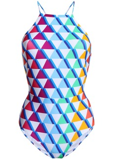 Emma Pake Woman Alba Lace-up Printed Swimsuit Multicolor
