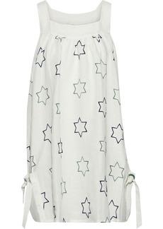 Emma Pake Woman Alessia Embroidered Linen Coverup Cream