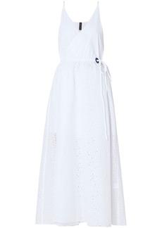 Emma Pake Woman Celeste Broderie Anglaise Cotton Midi Wrap Dress White