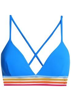Emma Pake Woman Ines Mesh-trimmed Triangle Bikini Top Bright Blue
