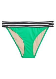 Emma Pake Woman Mesh-trimmed Low-rise Bikini Briefs Green