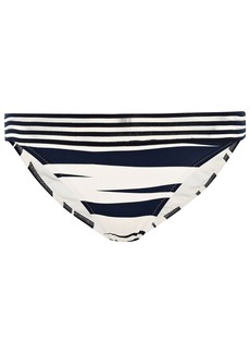Emma Pake Woman Adriana Mesh-trimmed Zebra-print Low-rise Bikini Briefs Ivory