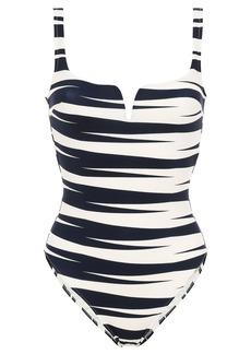 Emma Pake Woman Vera Zebra-print Swimsuit Ivory
