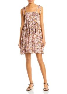 En Saison Floral Print Mini Dress