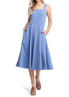 Women's En Saison Contrast Stitch Midi Dress