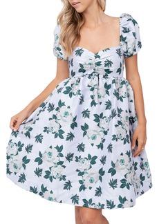 Women's En Saison Floral Jacquard Babydoll Dress