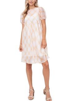 Women's En Saison Plaid Organza Babydoll Dress
