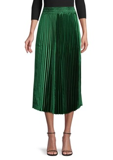 Endless Rose Accordion-Pleated Midi Skirt