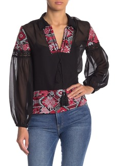 Endless Rose Dorian Embroidered Chiffon Blouse