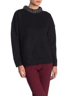 Endless Rose Embellished Neck Sweater