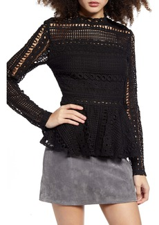 Endless Rose Crochet Lace Peplum Top