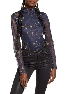 Endless Rose Embroidered Star Bodysuit