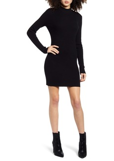 Endless Rose High Neck Ribbed Sweater Dress