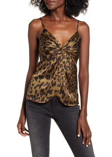 Endless Rose Leopard Twist Front Camisole Top
