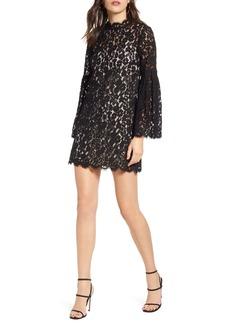 Endless Rose Long Sleeve Lace Shift Dress