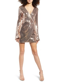 Endless Rose Long Sleeve Sequin Minidress