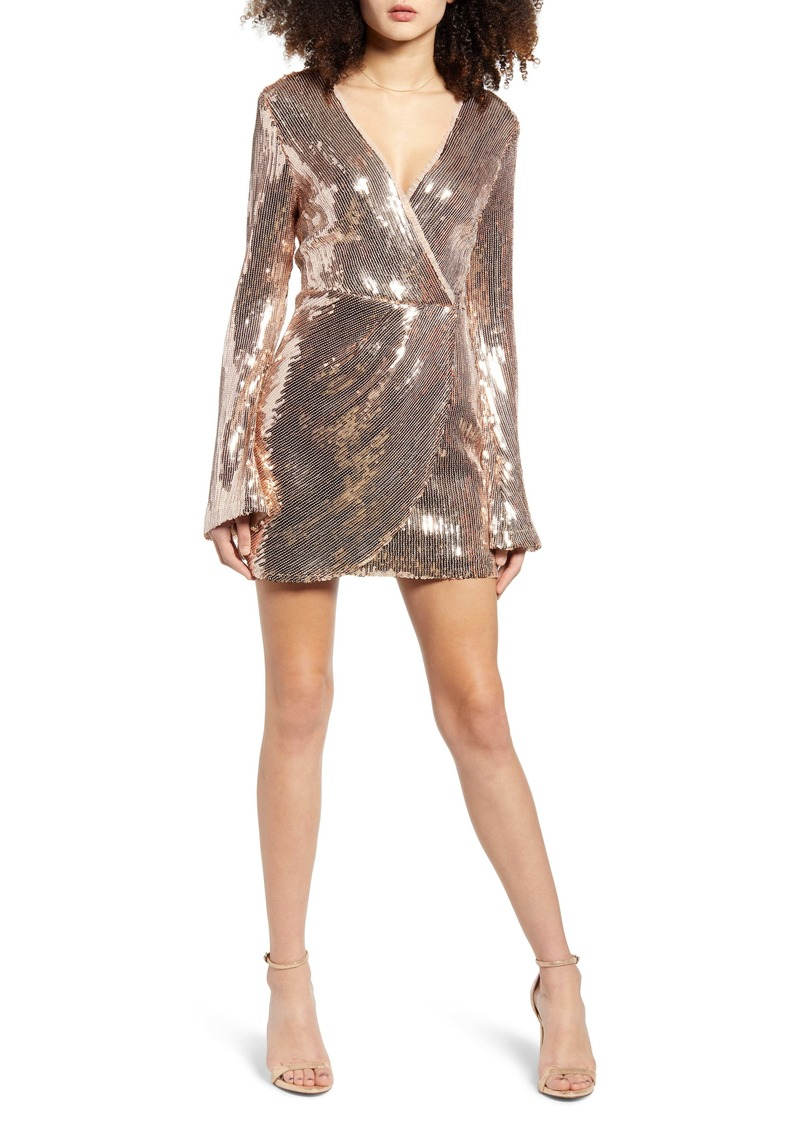 Endless Rose Long Sleeve Sequin Minidress