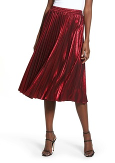 Endless Rose Metallic Pleated Skirt