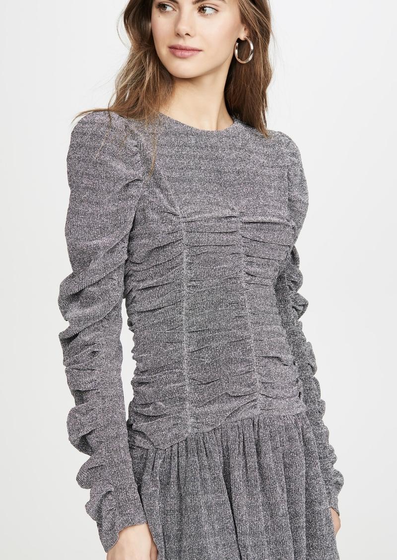 endless rose Metallic Ruched Dress