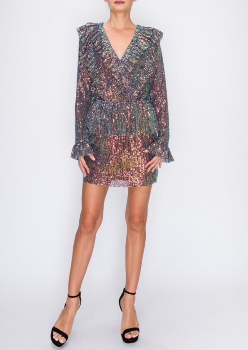 Endless Rose Multi Sequin Ruffle Dress