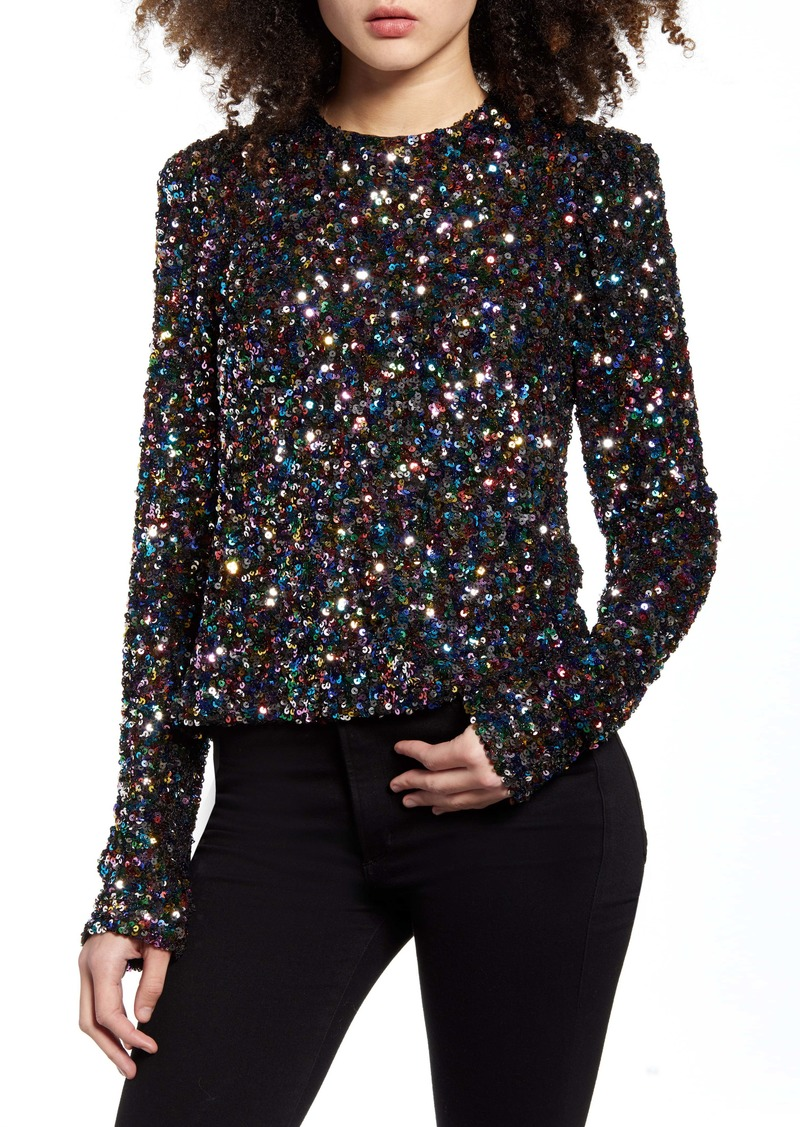 Endless Rose Multicolor Sequin Top