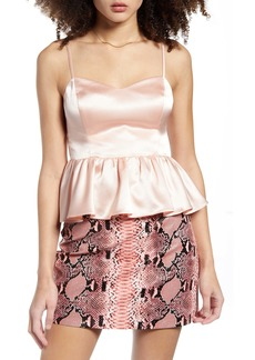 Endless Rose Peplum Camisole