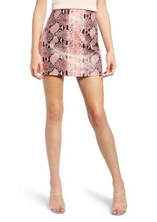 Endless Rose Pink Snake Print Miniskirt