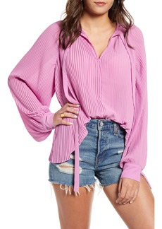 Endless Rose Pleated Chiffon Blouse