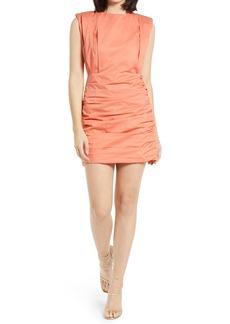 Endless Rose Pleated Shoulder Pad Dress