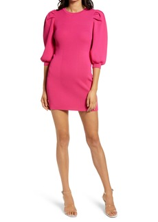 Endless Rose Puff Sleeve Sweater Minidress