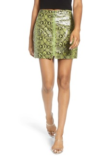 Endless Rose Python Pattern Front Zip Miniskirt