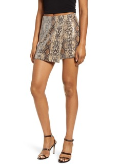 Endless Rose Python Pattern Wrap Shorts