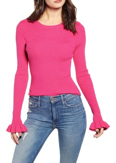 Endless Rose Ruffle Cuff Knit Top