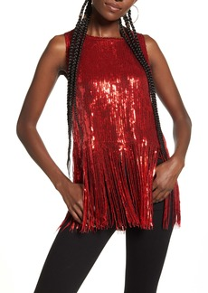 Endless Rose Sequin Fringe Tank Top