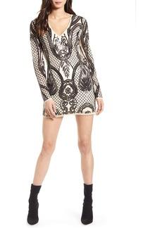 Endless Rose Sequin Long Sleeve Minidress