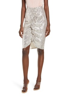 Endless Rose Sequin Ruffle Front Skirt