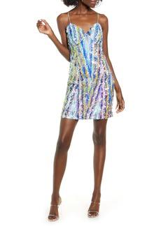 Endless Rose Sequin Stripe Minidress