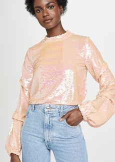 endless rose Sequin Tucked Sleeve Top