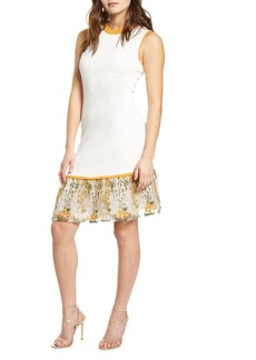 Endless Rose Sleeveless Embroidered Sweater Dress
