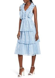 Endless Rose Sleeveless Tiered Midi Dress