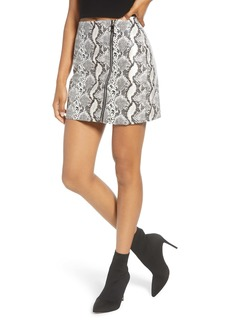 Endless Rose Snak Print Zip Detail Miniskirt