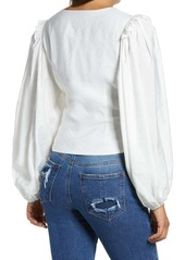 Endless Rose Twist Front Balloon Sleeve Blouse
