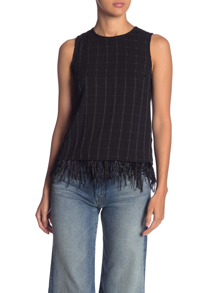 Endless Rose Feather Trim Textured Tank
