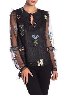 Endless Rose Floral Mesh Long Sleeve Top
