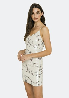 Endless Rose Floral Sequin Strappy Mini Dress - L - Also in: S, M, XS