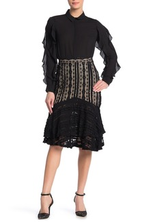 Endless Rose Lace Layered Knee Length Skirt