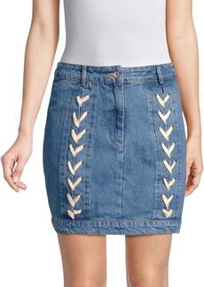 Endless Rose Lace-Up Denim Mini Skirt