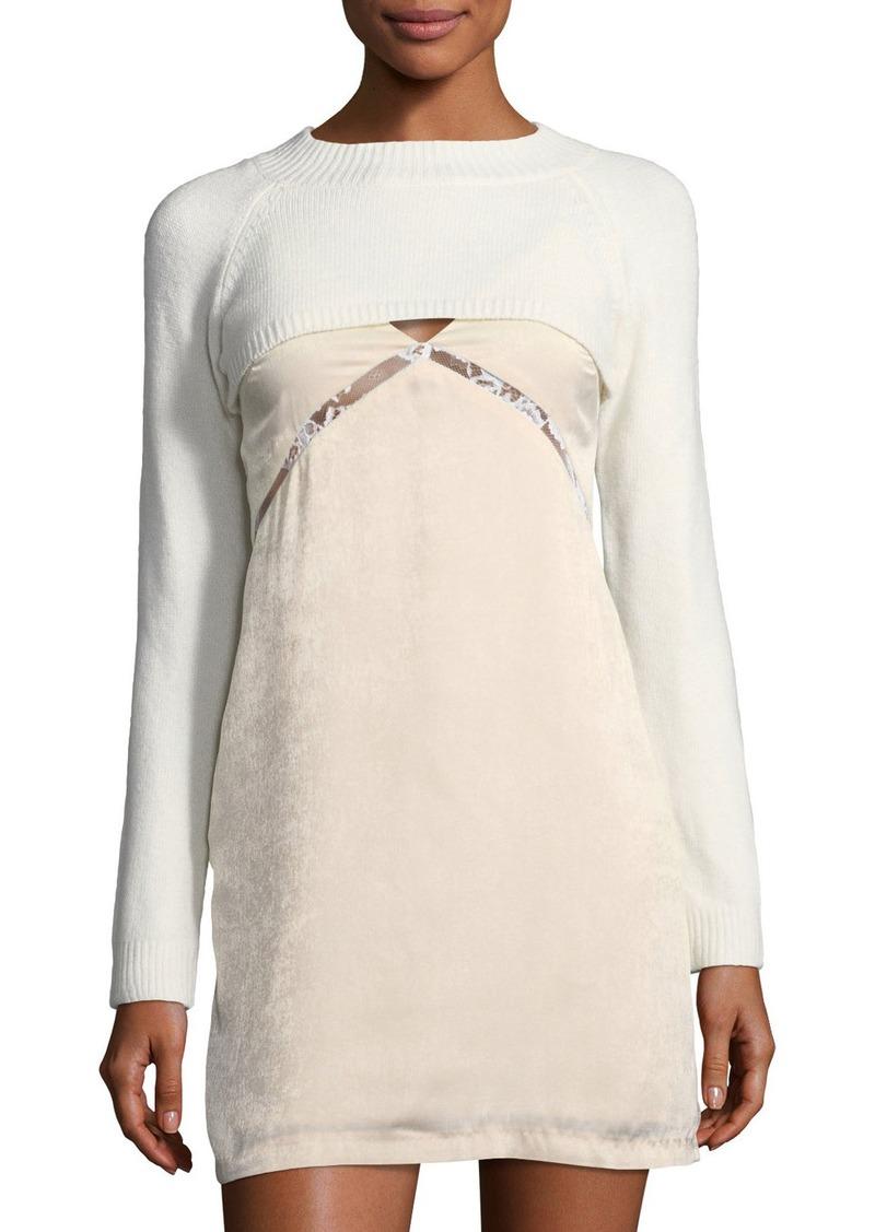 Endless Rose Layered Sweater & Slip Dress
