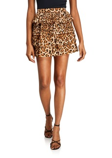 Endless Rose Leopard Ruffle Skirt