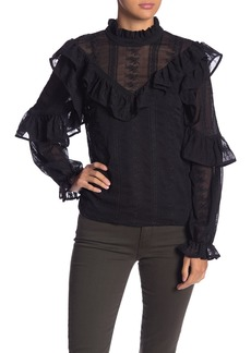 Endless Rose Mock Neck Ruffle Blouse